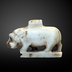 Hippopotamus amulet-E 22724