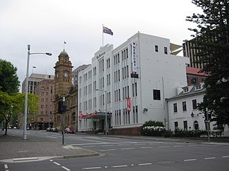 The Mercury (Hobart) - The former Mercury building at 91-93 Macquarie Street, Hobart