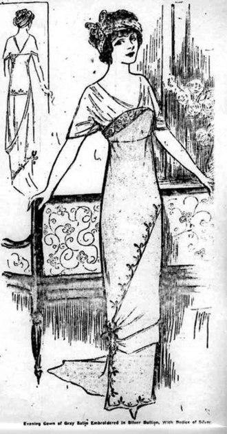 Hobble skirt - Hobble skirt style, 1911
