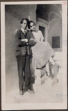 Nina Berberova and her husband, writer Vladislav Khodasevich in Sorrento in 1925