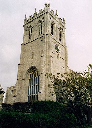 Christchurch Priory - The Tower in which the 12 bells hang.