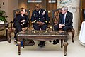Homeland Security Adviser Lisa Monaco, CENTCOM Commander Army General Lloyd Austin, and former National Security Adviser Stephen Hadley in Riyadh.jpg