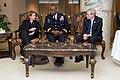 Homeland Security Adviser Lisa Monaco, CENTCOM Commander Army General Lloyd Austin, and former National Security Adviser Stephen Hadley in Riyadh.jpg
