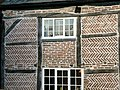 Hoton, Leicestershire, detail of herringbone brick infill in a timber framed house.jpg