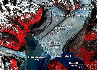 Hubbard Glacier - False color image of the Hubbard Glacier