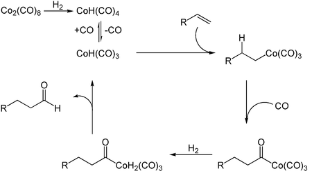 Reaktionsmechanismus der Hydroformylierung