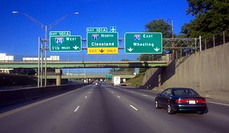 Interstate 70 - I-70 and I-71 intersection in Columbus, Ohio
