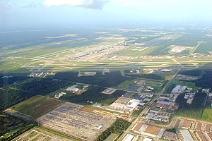A view of Bush Intercontinental Airport (IAH) ...