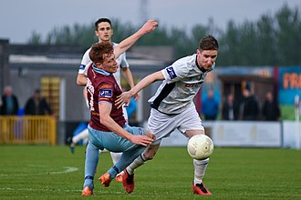 Ian Bermingham - Bermingham in action for St Patrick's Athletic away to Galway United in 2016.