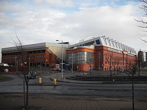 Das Ibrox Stadium in Glasgow