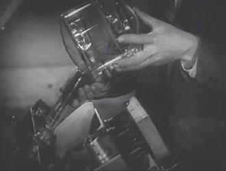 Iconoscope - Iconoscope and mosaic from a TV camera, circa 1955.