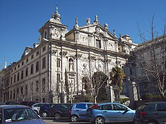 Santa Bárbara, Madrid - View of church with partial view of convent to the right