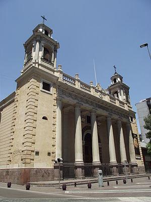 Iglesia San Agustín, Chile - Facade of Iglesia San Agustin