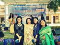 Ila and Ibra Khalid in Indraprastha college.jpg