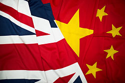 Image shows the Union and Chinese Flags together. MOD 45157410.jpg