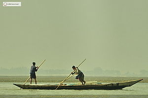 Chilika Lake - Fishermen pushing against the tide