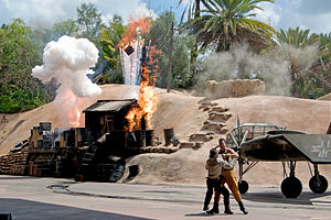"Indiana Jones (franchise) - Action on the set of the ""Indiana Jones Epic Stunt Spectacular!"""