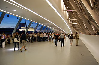 Expo 2008 - View of Bridge Pavilion, inside.