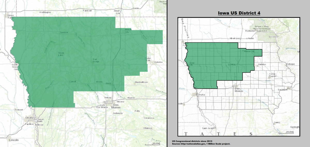 Iowas Th Congressional District Wikipedia - Iowa map us