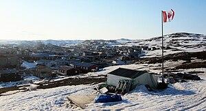 Iqaluit - View of Iqaluit from Joamie Hill