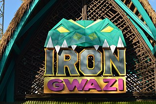Iron Gwazi Hybrid roller coaster in Tampa, Florida, U.S.