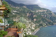 Positano and its surroundings.