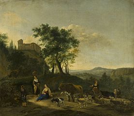 Italianate Landscape with Shepherds