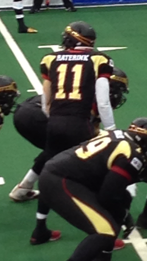 J. J. Raterink - Raterink with the Iowa Barnstormers in 2013.