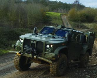 Oshkosh L-ATV - Oshkosh L-ATV in British Army green during a UK demonstration.