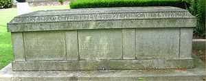 St Bartholomew's Church, Edgbaston - Grave of church architect J. A. Chatwin