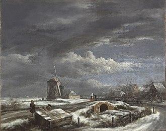 Winter Landscape near Haarlem - Image: Jacob van Ruisdael Winter Landscape PMA Cat. 569