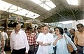 Jairam Ramesh with the Indian High Commissioner in Bangladesh, Smt. Veena Sikri visited Petrapole to review Indo- Bangladesh Border Trade, at the C.W.C Complex at Petrapole on Indo-Bangladesh border, on June 19, 2006.jpg