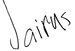 Jairus Aquino - Aquino's signature at age 9.
