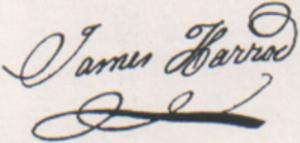 James Harrod - Image: James Harrod signature