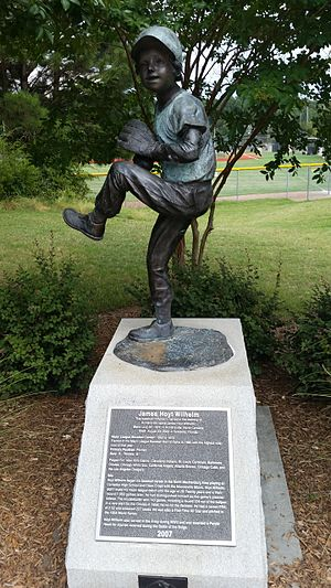 Hoyt Wilhelm - James Hoyt Wilhelm Commemorative Statue outside Huntersville Athletic Park in Huntersville, NC