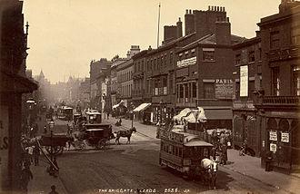Briggate, Leeds - Briggate in 1880.
