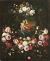 Jan Philip van Thielen - Madonna and Child Set in a Garland of Flowers.jpg