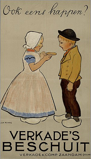 Verkade - Advertisement for Verkade rusk, ca. 1900, by Jan Rinke.