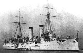 2nd Special Squadron (Japanese Navy) - Image: Japanese cruiser Akashi