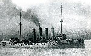 Japanese cruiser Soya - Image: Japanese cruiser Soya in 1909