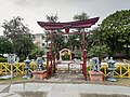 Japanese style gate on chandigarh japanese garden.jpg
