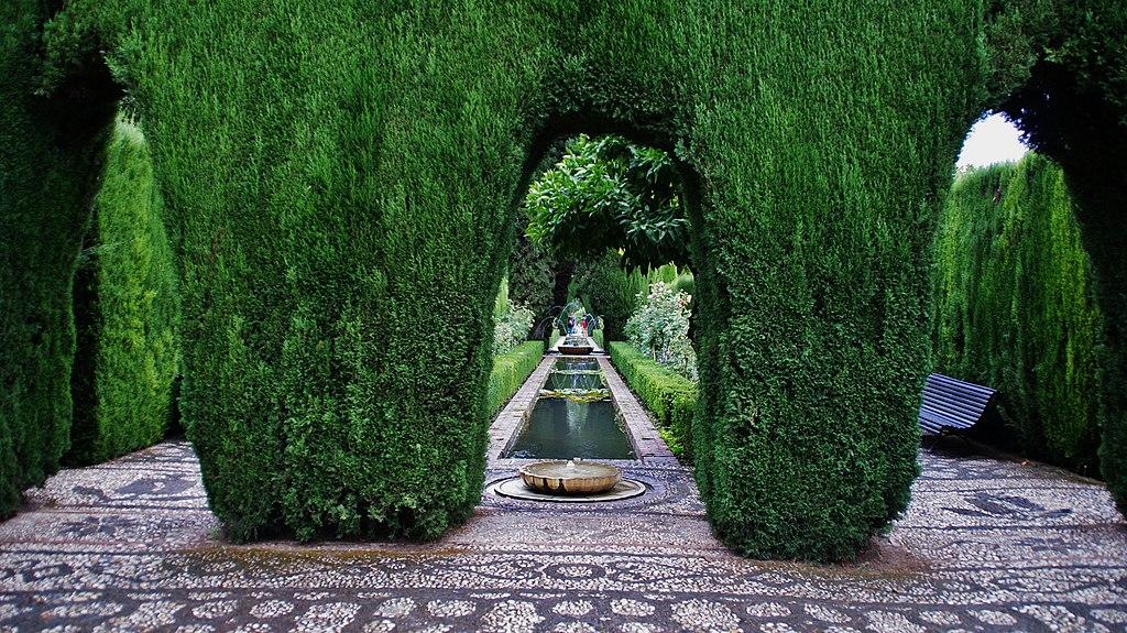 File jardines del generalife granada 15 jpg wikimedia for Jardines generalife