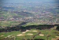 Jaworze (szczyt) , widok na Grybów (HB7).jpg