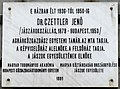 Jenő Czettler plaque Bp07 Andrássy85.jpg