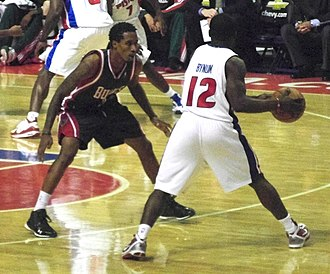 Will Bynum - Bynum matching up against Brandon Jennings of the Milwaukee Bucks in December 2009.