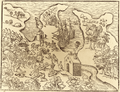 Jens Munk voyage account (Navigatio Septentrionalis, 1624) - 5 fig 3 - Winter Harbour at Churchill River - 1 full.png