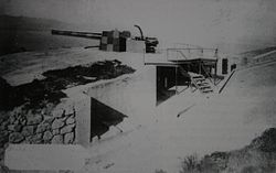 Jew's Cemetery Battery 9.2 inch Mk X in 1906.jpg