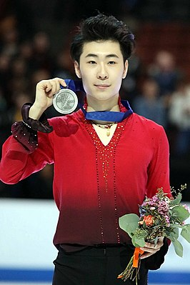 Jin Boyang at the 2019 Four Continents Championships - Awarding ceremony.jpg