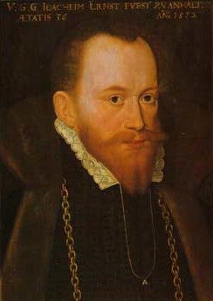 Joachim Ernest, Prince of Anhalt - Image: Joachim ernst f o