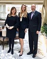 Joan Carr, Kelly Loeffler and Chris Carr at the Trump Hotel.jpg